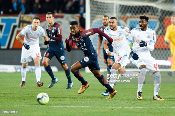 Isaac Mbenza of Montpellier during the Ligue 1 match between Montpellier Herault SC and Olympique Marseille at Stade de la Mosson on December 3 2017...