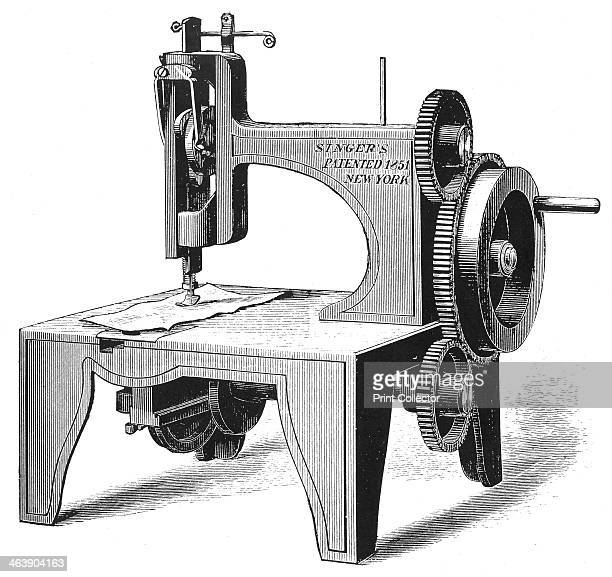 Isaac Merrit Singer's first sewing machine patented in 1851 From Genius Rewarded or the Story of the Sewing Machine