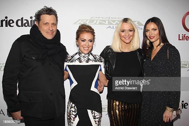 Isaac Mizrahi Alyssa Milano Zanna Roberts Rassi and Georgina Chapman attend the Project Runway All Stars Season 3 premiere party presented by The...