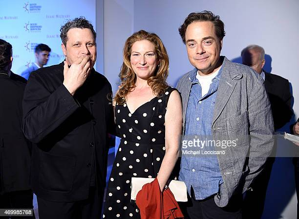 Isaac Mizrahi, Ana Gasteyer, and Charlie McKittrick attend the Good Shepherd Services Spring Party 2015 hosted by Isaac Mizrahion on April 16, 2015...