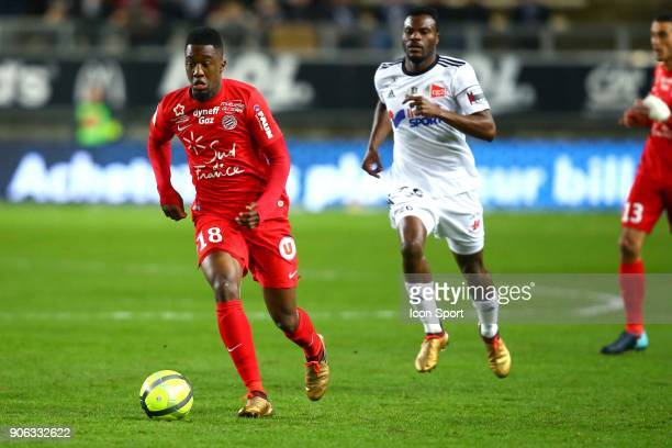 Isaac of Montpellier during the Ligue 1 match between Amiens SC and Montpellier Herault SC at Stade de la Licorne on January 17 2018 in Amiens