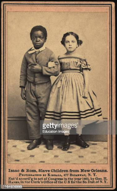 Isaac & Rosa, Slave Children from New Orleans, Photograph by Kimball, 477 Broadway, NY, William A Gladstone Collection of African American...