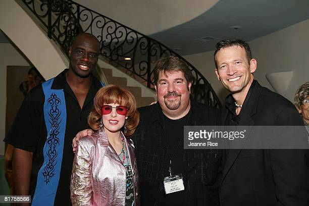 Isaac Singleton Jr Kat Kramer Trigg Ison and Gregory Joiner attend the Trigg Ison Fine art exhibit for the work of Maxine Kim StussyFrankel at her...