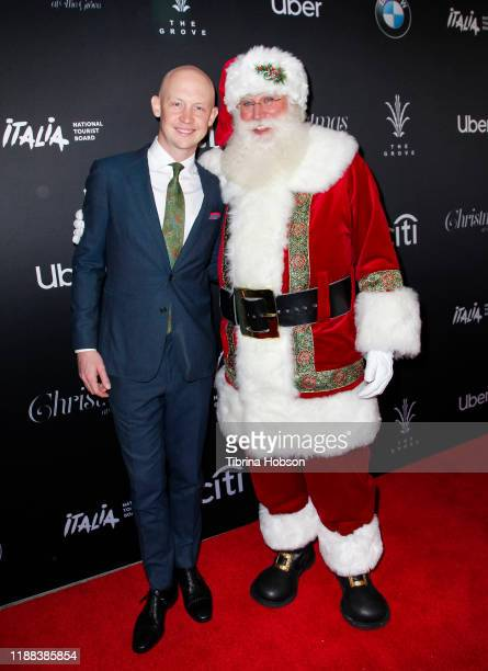 Isaac Slade and Santa Claus attend Christmas at The Grove A Festive Tree Lighting celebration at The Grove on November 17 2019 in Los Angeles...