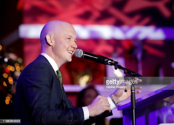 Isaac Slade performs at Christmas at The Grove A Festive Tree Lighting celebration at The Grove on November 17 2019 in Los Angeles California