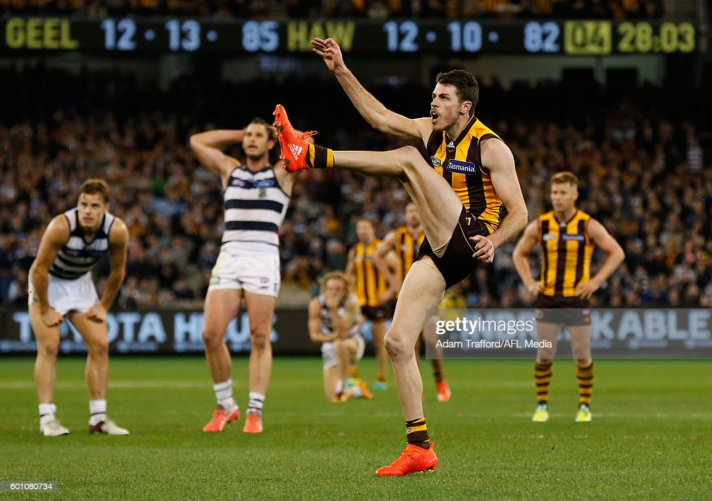AFL Second Qualifying Final - Geelong v Hawthorn : News Photo