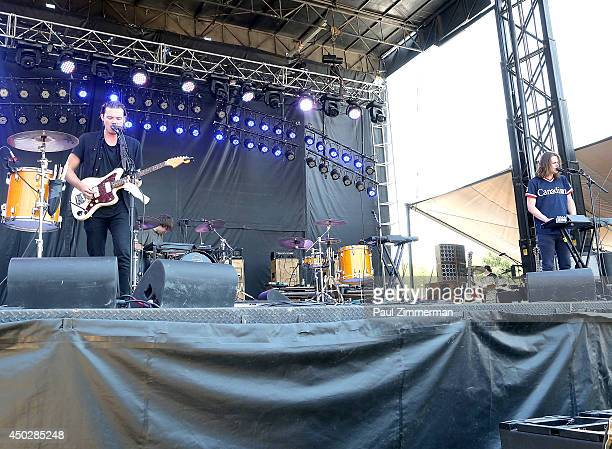 Isaac Symonds of Half Moon Run performs during the 2014 Governors Ball Music Festival at Randall's Island on June 8 2014 in New York City
