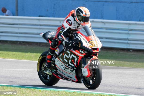 32 Isaac VIALES SPA SAG Team Kalex qualifications at the Misano World Circuit Marco Simoncelli Italy thirteenth round of MotoGP Word Championship...