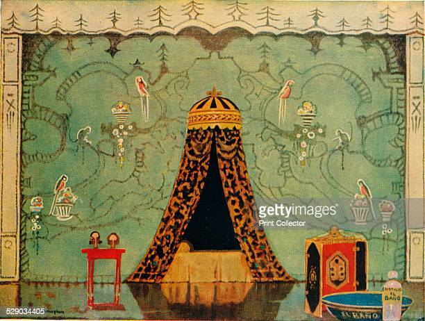 Isaac's Lodgings 1924 Stage setting for Richard Brinsley Butler Sheridan's The Duenna After original artwork by George Sheringham From The Studio...