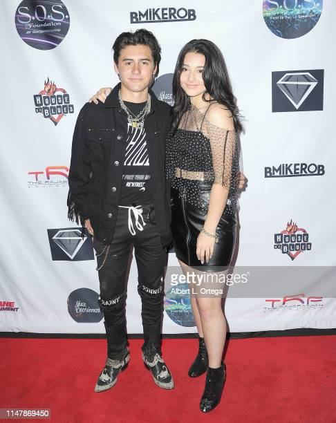 Isaak Presley and Issie Swickle attend the SOS Pre Tour Launch Party held at The Roxy Theatre on June 2 2019 in West Hollywood California