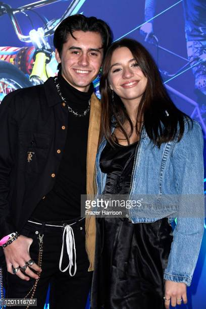 Isaak Presley and Mackenzie Ziegler attend the LA Premiere Of Cirque Du Soleil's Volta at Dodger Stadium on January 21 2020 in Los Angeles California