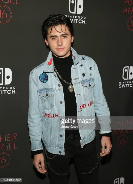 Isaak Presley attends Asher Angel's 16th Birthday Party Celebration at Blind Dragon on October 28 2018 in West Hollywood California
