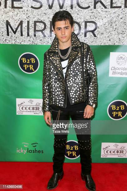 Isaak Presley attends Issie Swickle Celebrates the Release of Her New Single Mirror at The Industry Loft Space on April 18 2019 in Hollywood...