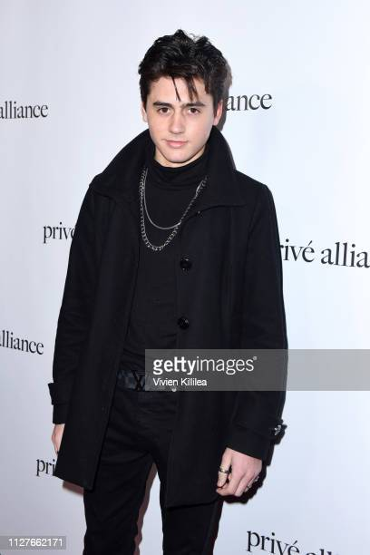 Isaak Presley attends the Privé Alliance LA's Fashion Presentation with KPop Star Baekhyu at Academy LA on February 26 2019 in Los Angeles California