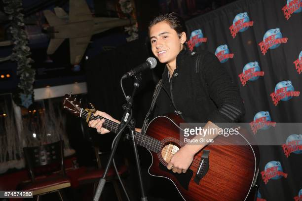 Isaak Presley performs at Planet Hollywood Times Square on November 14 2017 in New York City