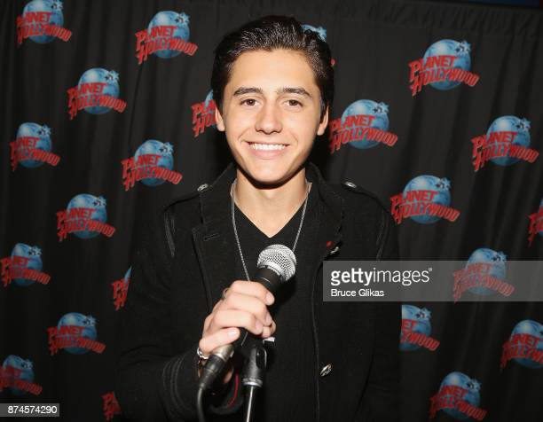Isaak Presley poses at Planet Hollywood Times Square on November 14 2017 in New York City