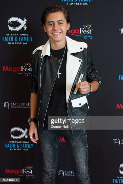 Isaak Presley poses for a photo at the Hollywood's Millennials International Faith Family Film Festival Rising Stars panel during MegaFest at Omni...