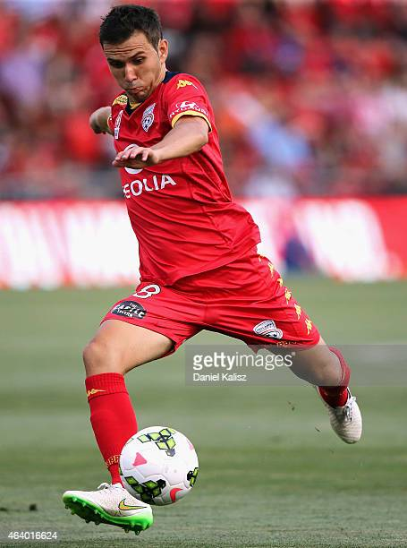 Isaas Snchez of United controls the ball during the round 18 ALeague match between Adelaide United and Western Sydney Wanderers at Coopers Stadium on...