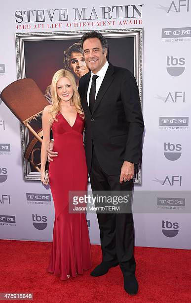 IsaBeall Quella and actor/comedian Brad Garrett attend the 2015 AFI Life Achievement Award Gala Tribute Honoring Steve Martin at the Dolby Theatre on...