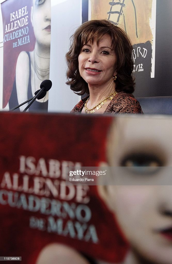 Isabel Allende attends new book 'El cuaderno de Maya' press conference at book fair on June 8, 2011 in Madrid, Spain.