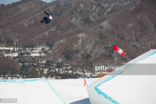 Isabel Atkin Great Britain during the Womens Ski Slopestyle finals at the Pyeongchang Winter Olympics on 17th February 2018 at Phoenix Snow Park in...