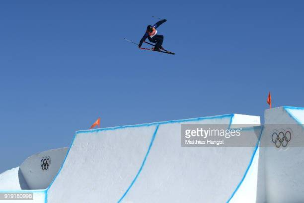 Isabel Atkin of Great Britain competes during the Freestyle Skiing Ladies' Ski Slopestyle final on day eight of the PyeongChang 2018 Winter Olympic...