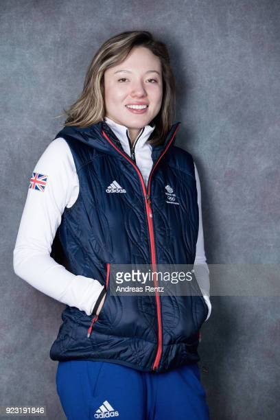 Isabel Atkin of Great Britain poses for a portrait on day 14 of the PyeongChang 2018 Winter Olympic Games on February 23 2018 in Gangneung...