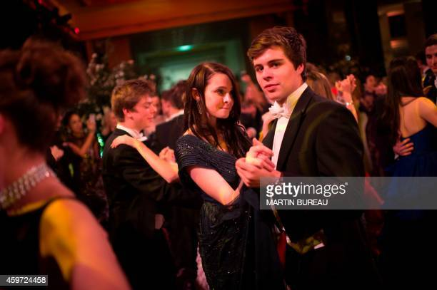 Isabel Beatty the daughter of US actors Warren Beatty and Annette Bening dances with her partner Brandolino Gritti during the 22nd Debutantes Ball on...