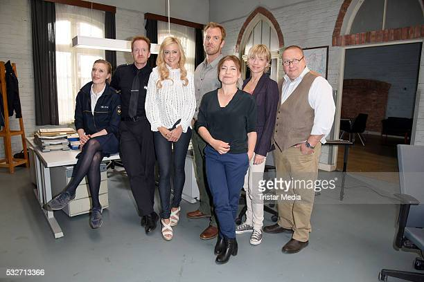 Isabel Berghout Mathias Junge Jenny Elvers Dominic Boeer Claudia Schmutzler Silke Matthias and Udo Kroschwald attend the SOKO Wismar onset photocall...