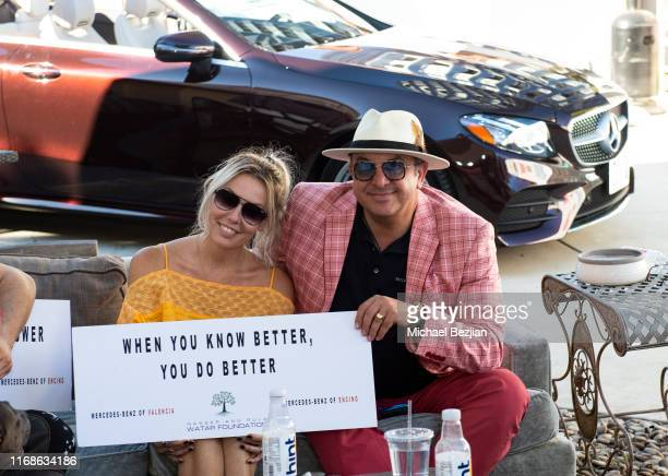 Isabel Brescovici and Anoush Sadegh support Watar Foundation at TAP The Artists Project Giveback Day on August 16 2019 in Los Angeles California