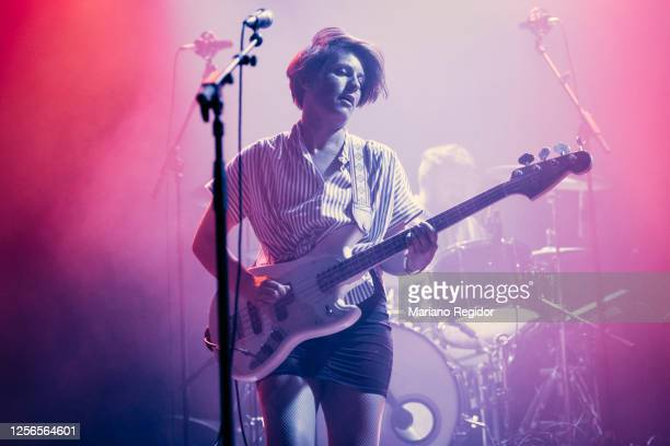 Isabel Cea of Triangulo de Amor Bizarro performs on stage at La Riviera as part of the Live Nation's Crew Nation charity concert series on July 16,...