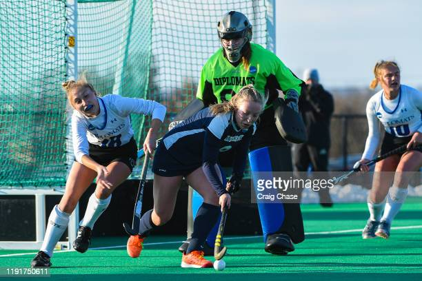 Isabel Chandler of Middlebury dribbles during the Division III Women's Field Hockey Championship held at Spooky Nook Sports on November 24 2019 in...