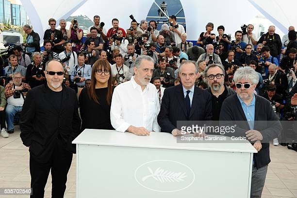 Isabel Coixet Alejandro De La Iglesia Frederic Mitterrand Fernando Trueba and Pedro Almodovar at the Photocall for 'Homage To The Spanish Cinema'...