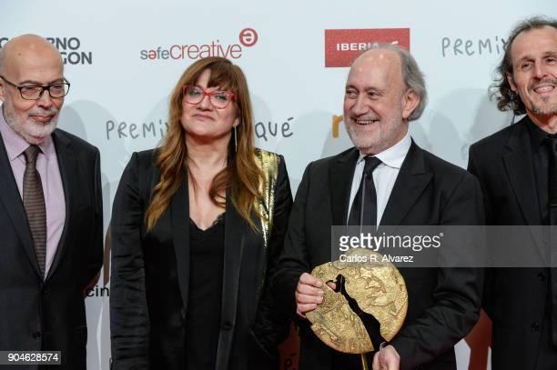 Isabel Coixet receives the Best Film Award for the movie 'La Libreria' at the 23rd edition of Jose Maria Forque Awards at Palacio de Congresos on...