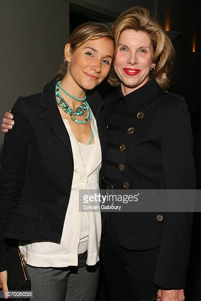 Isabel Coles and Christine Baranski during Harvey Weinstein Hosts a Private Screening of Bobby for Senators Obama and Schumer Inside Arrivals at...