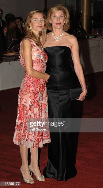 Isabel Cowles and Christine Baranski during The 28th Annual Kennedy Center Honors Arrivals at The Kennedy Center for the Perfoming Arts in Washington...