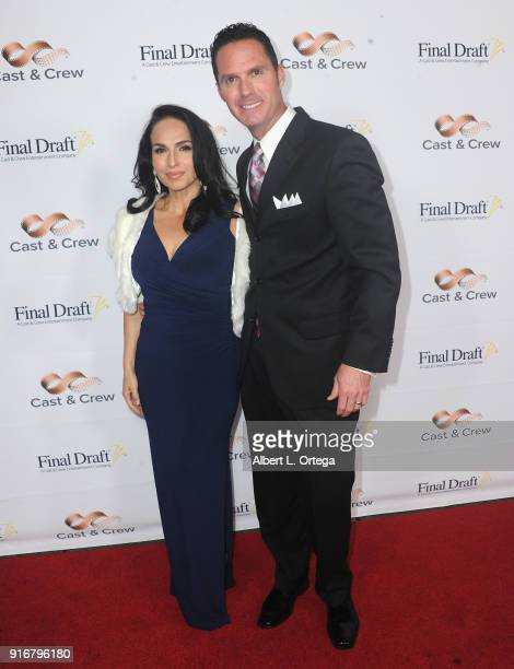 Isabel Cueva and Scott McMenamin arrive for the 13th Annual Final Draft Awards held at Paramount Theatre on February 8 2018 in Hollywood California