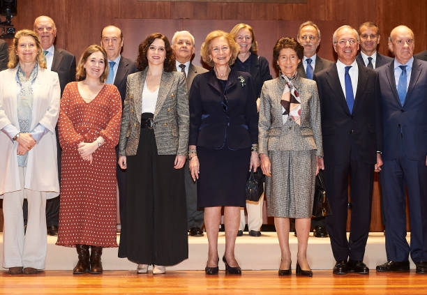 ESP: Queen Sofia Visits The Superior School Of Music 'Reina Sofia' In Madrid