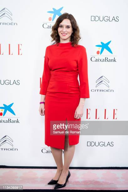 Isabel Díaz Ayuso attends Elle Women's Day photocall on March 07 2019 in Madrid Spain
