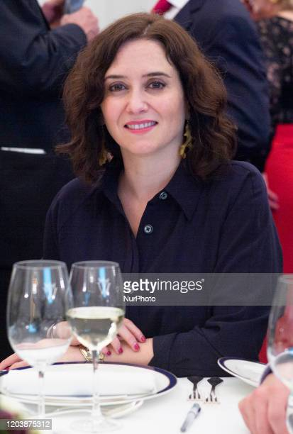 Isabel Díaz Ayuso attends the delivery of the Magas de Goya awards on February 27 2020 in Madrid Spain