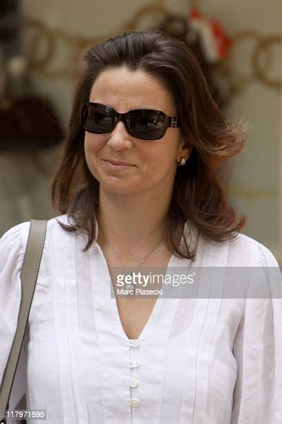 Isabel de Castro Curvello de Heredia is sighted leaving the 'Hermitage' hotel before the Royal Wedding of Prince Albert II of Monaco to Charlene...
