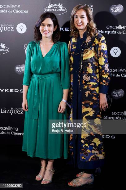 Isabel Diaz Ayuso and Marta Michel attends the Yo Dona party during Mercedes Benz Fashion Week Madrid Spring/Summer 2020 party at the Only You Hotel...