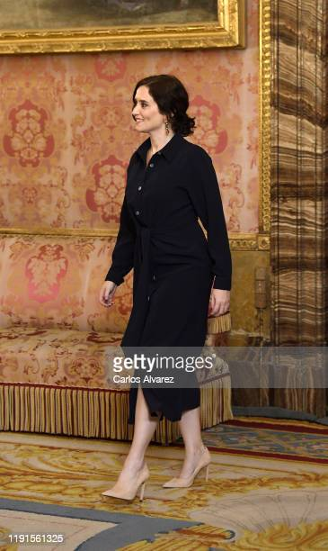 Isabel Diaz Ayuso attends a reception because of the United Nations conference for the Climate Summit 2019 at the Royal Palace on December 02 2019 in...