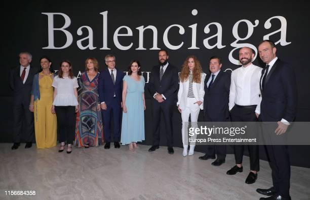 Isabel Diaz Ayuso Borja Thyssen and Blanca Cuesta attend 'Balenciaga Y La Pintura Española' exhibition opening on June 17 2019 in Madrid Spain
