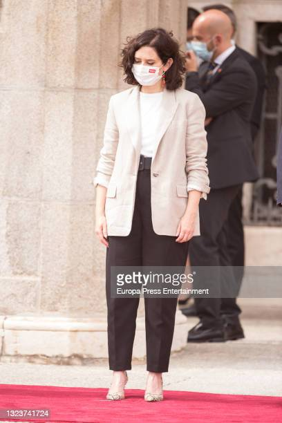 Isabel Diaz Ayuso during the reception of the President of the Republic of Korea, Moon Jae-in, and his wife, Kim Jung-sook, upon their arrival in...
