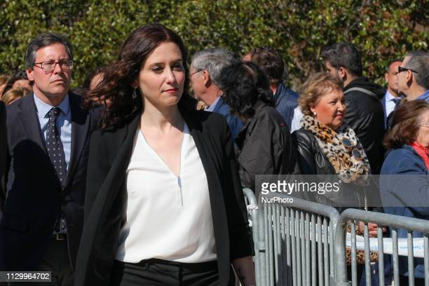 Isabel DiazAyuso seen attending the event of the The Association of Victims of Terrorism in the El Retiro Park in Madrid Spain on 11 March 2019 in...