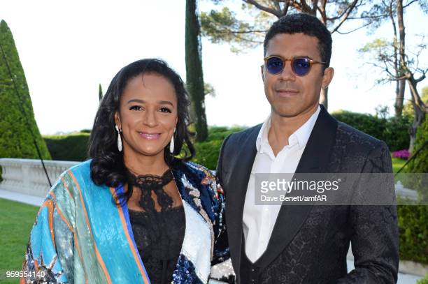 Isabel dos Santos and Sindika Dokolo arrive at the amfAR Gala Cannes 2018 at Hotel du CapEdenRoc on May 17 2018 in Cap d'Antibes France