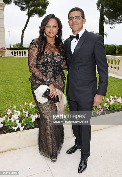 Isabel Dos Santos and Sindika Dokolo attend amfAR's 21st Cinema Against AIDS Gala presented by WORLDVIEW, BOLD FILMS, and BVLGARI at Hotel du...