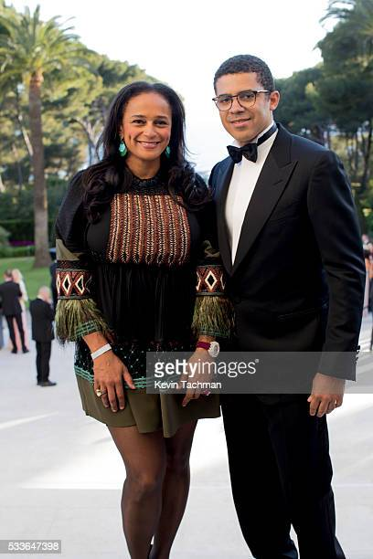Isabel dos Santos and Sindika Dokolo attend the amfAR's 23rd Cinema Against AIDS Gala at Hotel du CapEdenRoc on May 19 2016 in Cap d'Antibes France