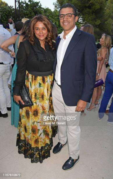 Isabel dos Santos and Sindika Dokolo attend the first Midsummer Party hosted by Elton John and David Furnish to raise funds for the Elton John Aids...